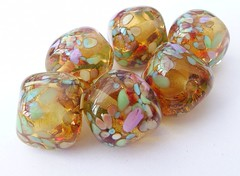 Golden Nuggets (Glittering Prize - Trudi) Tags: uk glass beads trudi lampwork sra glitteringprize fhfteam britlamp thgg