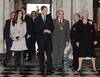 Prince William and Kate Middleton visit City Hall in Belfast with the Lord Mayor of Belfast Councillor Patrick McConvery and Dame Mary Peters DBE, Lord-Lieutenant of the County Borough of Belfast