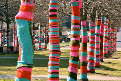 Knitted Wonderland: Yarn Bomb goes off