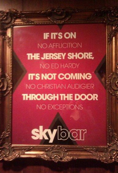 If it's on Jersey Shore, it's not coming through the door