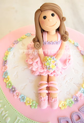 Sweet Ballerina cake (Party Cakes By Samantha) Tags: flowers ballet cake ballerina ribbons sweet