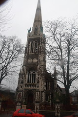 Church of the Good Shepherd (Matthew Black) Tags: england london worship place unitedkingdom gb churchofthegoodshepherd londonboroughofhackney stamfordhill gothicstyle greaterlondon gradeiilisted rookwoodroad georgianorthodoxchurch jmorris osm:way=78391648 ons:code=00am