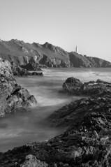 Start Point ([DEVONshots.com] Lloyd W.A. Cosway) Tags: longexposure sea portrait lighthouse seascape mono blackwhite nikon rocks devon startpoint d300 2470mm southdevon blackwhitephotos nd110 devonshots