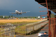 Fabster vs Gaudi (wittowio) Tags: airplane landing airbus spotting a340 iberia mroc