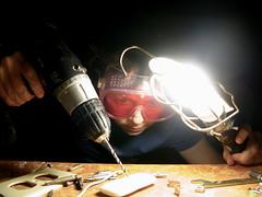 Soap Study (sonyacita) Tags: self soap goggles flashlight drill utata:project=ip121 inmydadstools itdoesntmakemuchsense itsbecauseitsironphotorapher
