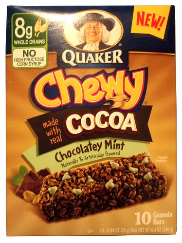 Quaker Chewy Chocolatey Mint Granola Bars