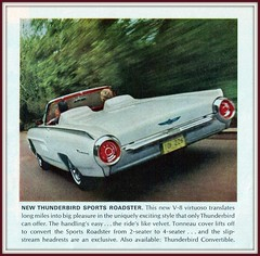 1963 Ford Thunderbird Sports Roadster Convertible (coconv) Tags: pictures auto old classic cars ford sports car vintage magazine advertising cards photo flyer automobile post image photos antique album postcard ad picture convertible images 63 advertisement vehicles photographs card photograph postcards vehicle autos collectible collectors brochure thunderbird automobiles dealer 1963 roadster prestige