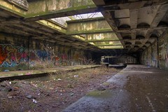 Botanic Gardens Train Station (Bora Horza) Tags: old uk urban abandoned overgrown station gardens train underground botanical graffiti scotland unitedkingdom glasgow ruin railway forgotten urbanexploration rubbish vegetation botanic exploration derelict hdr ruined urbex vandalised botanicgardenstrainstation dumphdr