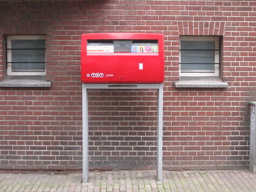 Cheery modern postbox