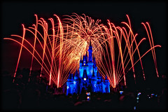 Magic Kingdom Fireworks (Silver1SWA (Ryan Pastorino)) Tags: world canon fireworks magic sigma kingdom disney walt sigma1020 40d