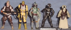 Hasbro's Class of 2010 Bounty Hunters (Darth Ray) Tags: star celebration v hunter boba wars bounty hunters hasbro fett bossk 4lom dengar zuckass