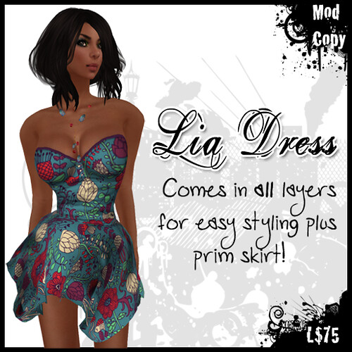 [IF] TOSL Item: Lia Dress in Floral