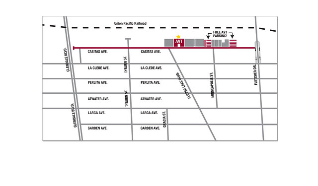 Atwater Village Theatre Parking Map