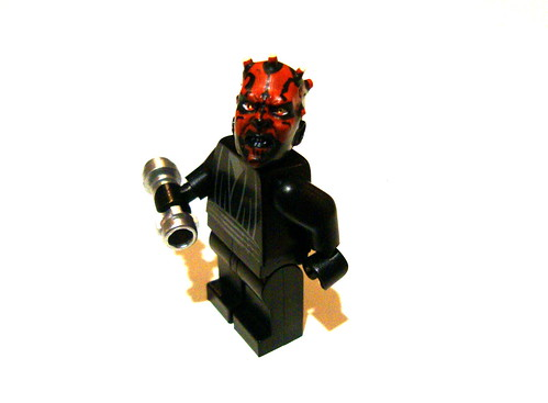 Custom minifig Lego Darth Maul; Customized Head