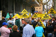 No Mines on Liverpool Plains (Erland Howden) Tags: people action rally protest sydney australia places mining event nsw politician environment mp coal activism ncc climatechange climate activists martinplace globalwarming csg fossilfuels erlandhowden roboakshott coalseamgas federalmp