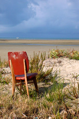 A chair with a view 1 (RodaLarga) Tags: france abandoned chair beauduc