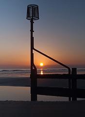 Redcar sunrise2 (Richard Degg) Tags: sea reflection beach sunrise sand waves groyne redcar