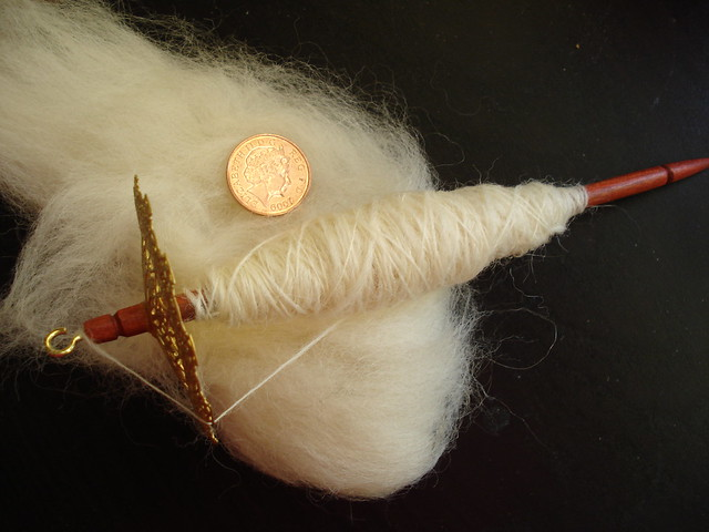Super light tiny spindle handspinning yarn filigree whorl
