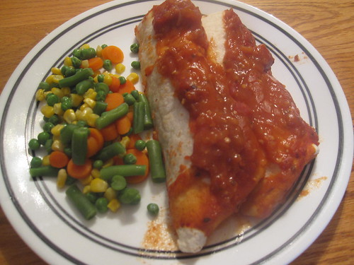Enchiladas served