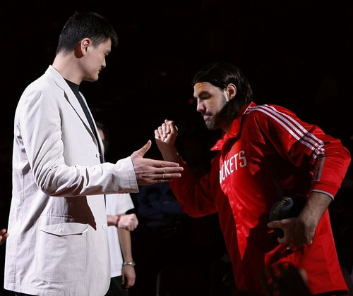 March 23rd, 2011 - Yao Ming makes an appearance at the Rockets game against the Golden State Warriors