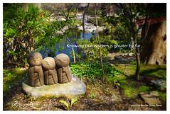 Knowing that wisdom is greater by far... (Jen Zac) Tags: green japan youth garden children peace kamakura religion wisdom deity jizo