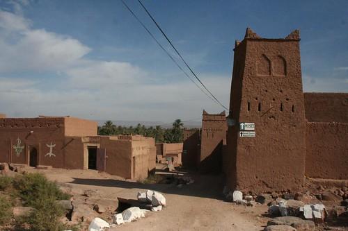 Ksar Tissergate au chemin Zagora au sud du Maroc
