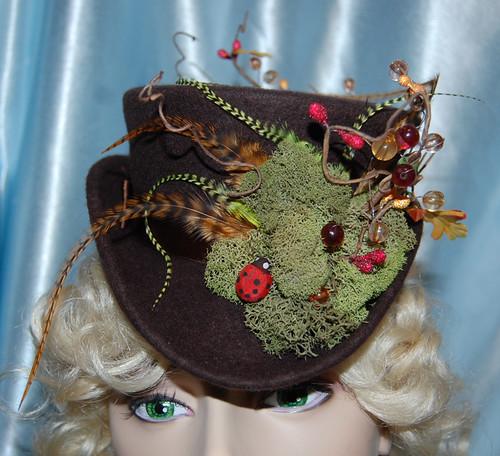Mossy Mini Brown Top Hat