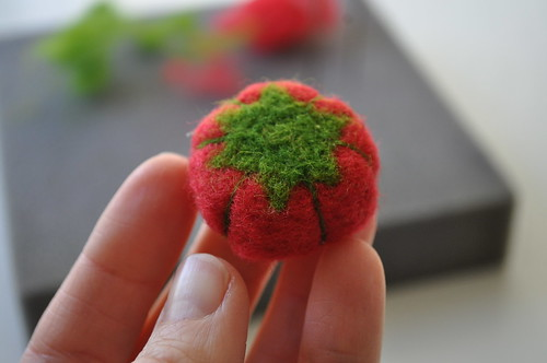 Tiny Tomato Pincushion Ring