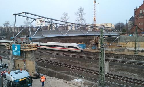 neue Fußgängerbrücke von der Schöneberger Insel nach Tempelhof