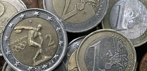 Scrapped Euro Coin Ring Foiled