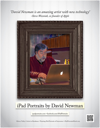 Woz endorses David Newman's iPad Portraits: Published in ICOSA Magazine Today by DNSF David Newman