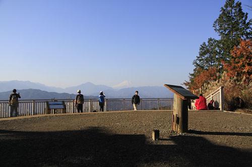 一丁平から見た富士山
