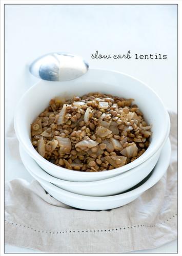 slow carb lentils