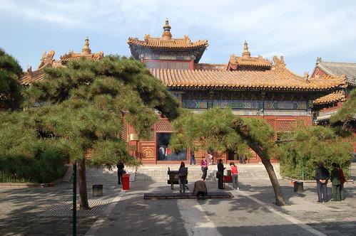Die grosse Halle im Lamatempel Yonghe Gong