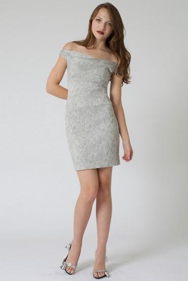 Stylish Dresses - Off Shoulder Jackie O mini 35quot by blackhalo2011