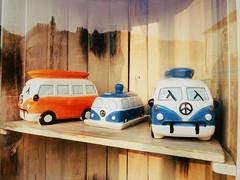 VW-VW-VW (Peter.Bartlett) Tags: shelf campervan van volkswagen vsco lunaphoto urbanarte urban mobilephone iphone5s cellphone display window shop pottery ceramics reflection