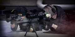 """Send it"" (Eripom^^) Tags: secondlife sniper precision rifle kac sr25 sac ssoc combat weapon battle military cosplay special forces marksman spotter binoculars iphone ipad pvs22 m110 marines tonktastic epia leupold d1mtg razor sisu valkyrie fdt somemore saebom"