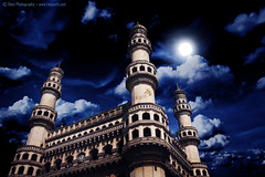 The impressive and beautiful monument of Hyderabad (ranZeeth (Think different & make a difference)) Tags: oldcity bluemoon charminar hyd hyderabadi tayi ranz charminarhyderabad 4minar ranzeeth cloudsmoon hamarahyderabad ranzphotography magicalcharminar charminaroldcity moonlightcharminar nightcharminar mooncharminar charminarclouds charminarbeautiful lovelycharminar bluecharminar