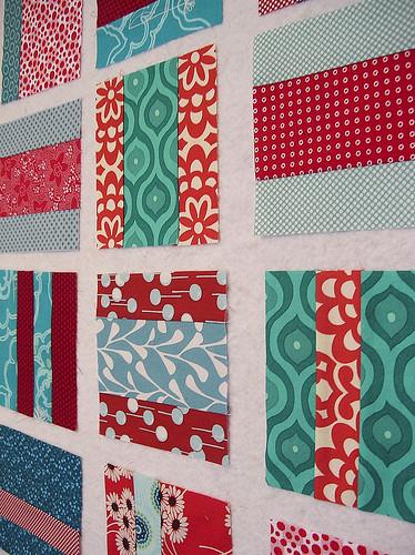 red and aqua squares