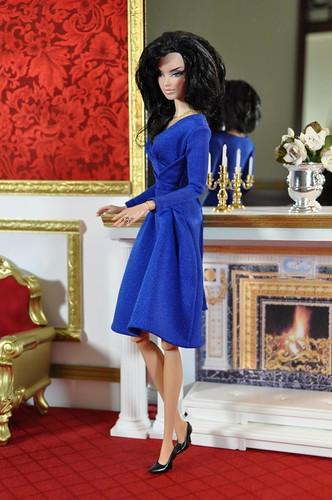 kate middleton blue dress replica. 88-9. mini replica of KATE