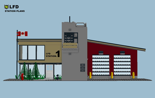 Daily LDD: LEGO Fire Station