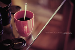 26/365 {Explored} (CaioBraga) Tags: cup coffee canon lens dof bokeh spoon pleasewakemeup cafein