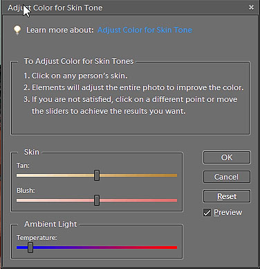 Adjust Color to Skin Tone