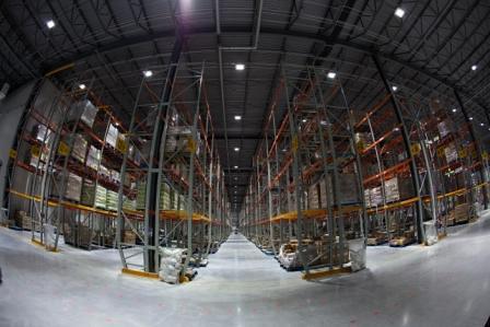 Balzac Fresh Food Distribution Center - Concrete Floors/LED Lights