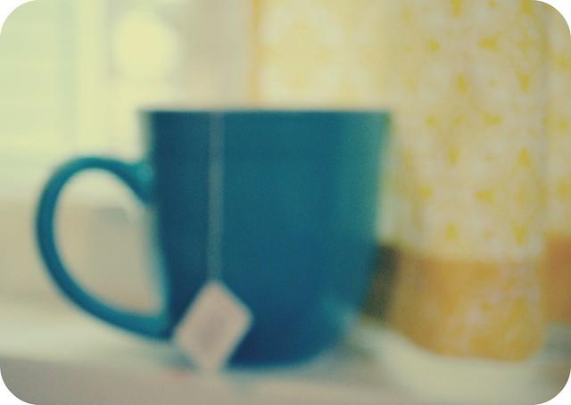 blurry tea, foggy morning.