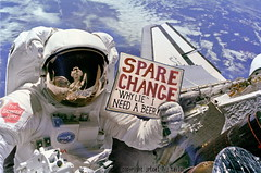 Spare Change? (jrtce1) Tags: funny earth space satire homeless humor astronaut nasa discovery orbit greatdepression recession sparechange spaceexploration whylieineedabeer spacehumor nasahumor discoveryphoto jrtce1 greatrecession surrealspaceart nasabudgetcuts homelessastronaut homelessinspace discoveryshuttlephoto