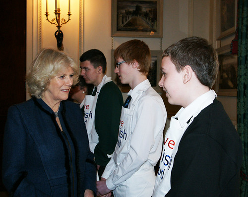 The Duchess of Cornwall meets winners of the British Food Fortnight Secondary Schools Competition