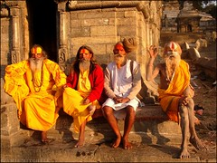 Nepal - Kathmandu - The Famous Sadhus of Pashupatinath ( Jamie Mitchell) Tags: city nepal sunset mountains sunrise asian temple scotland asia niceshot view buddhist country religion buddhism kathmandu nepalese himalaya hindu hinduism nepali sunsari earthasia