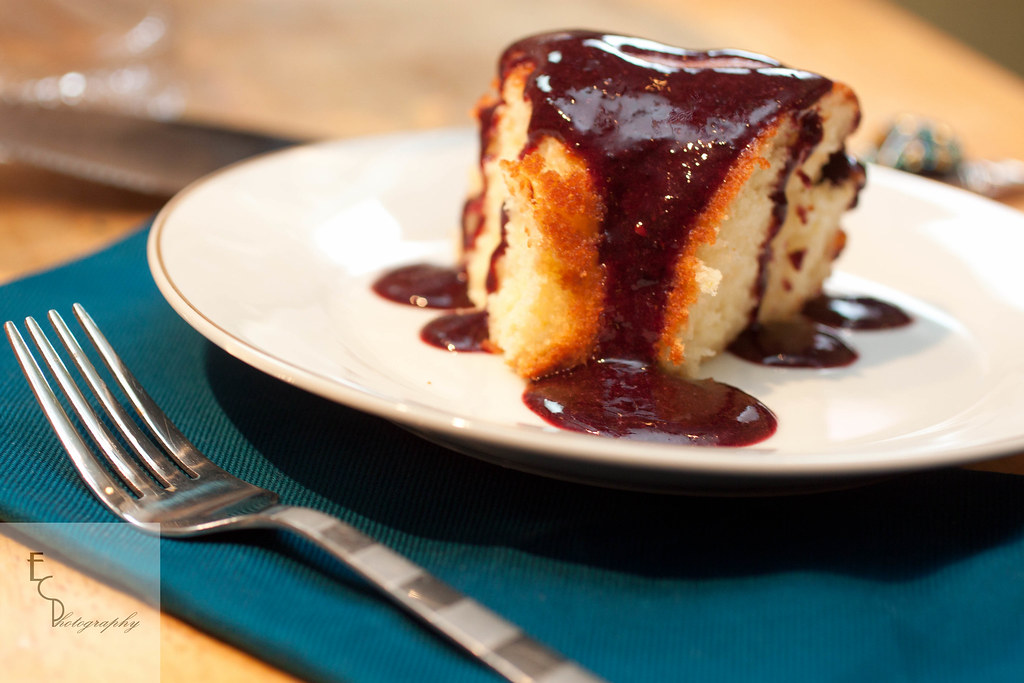 5395259180 62df327c1d b d Pomelo Cake with Blackberry Sauce