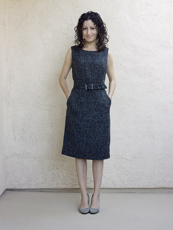 Banana Republic Tweed Dress Pockets 600